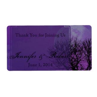Elegant Purple Gothic Posh Water Bottle Label Shipping Label