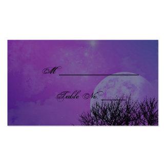 Elegant Purple Gothic Posh Wedding Place Cards Business Card