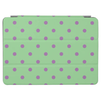 elegant purple green polka dots iPad air cover
