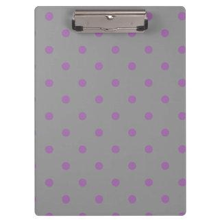 elegant purple grey polka dots clipboards