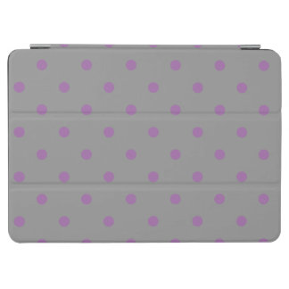 elegant purple grey polka dots iPad air cover