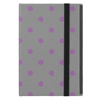 elegant purple grey polka dots iPad mini case