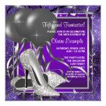 Elegant Purple High Heels Birthday Party