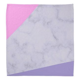 elegant purple marble pink purple color block bandana