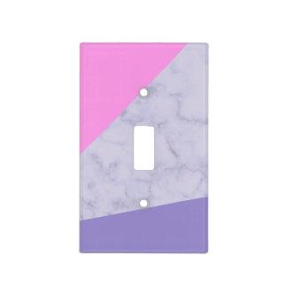 elegant purple marble pink purple color block light switch cover
