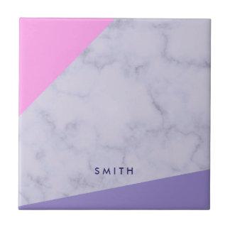 elegant purple marble pink purple color block tile