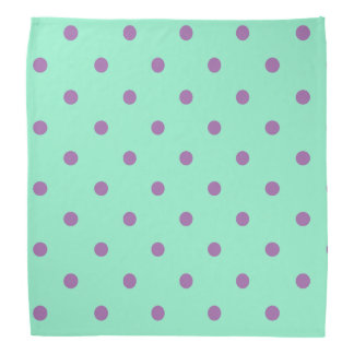 elegant purple mint polka dots bandana
