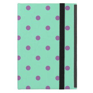 elegant purple mint polka dots cover for iPad mini