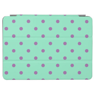 elegant purple mint polka dots iPad air cover