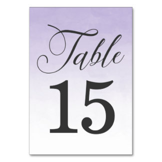 Elegant Purple Ombre Watercolor | Table Cards