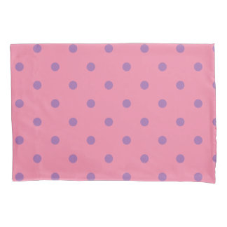 elegant purple pink polka dots pillowcase