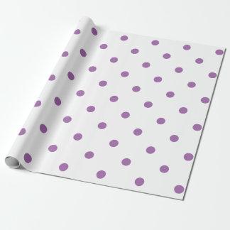elegant purple polka dots