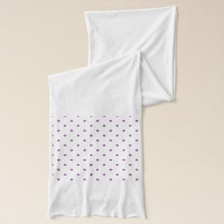 elegant purple polka dots scarf