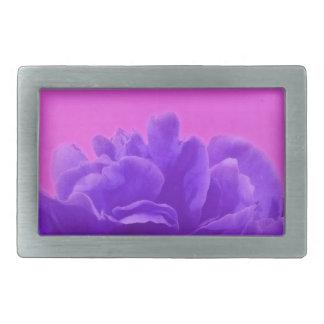 Elegant Purple Raspberry Floral Belt Buckle