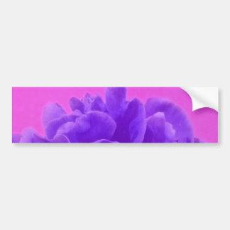 Elegant Purple Raspberry Floral Bumper Sticker