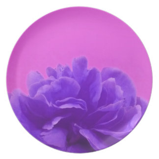 Elegant Purple Raspberry Floral Party Plates