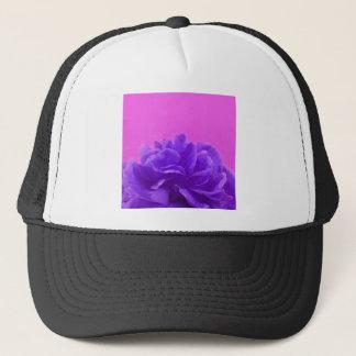 Elegant Purple Raspberry Floral Trucker Hat
