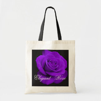 Elegant Purple Rose Tote