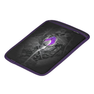 Elegant Purple Rosebud Color Splash Sleeve For iPads