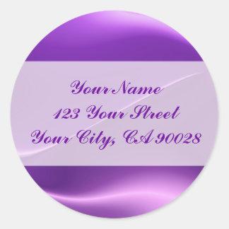 elegant purple round sticker