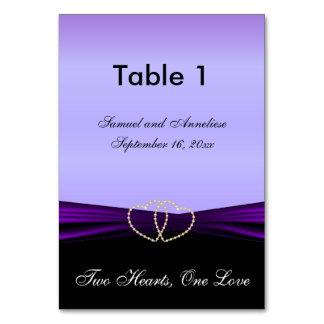 Elegant Purple Satin with Purple Satin Ribbon Card
