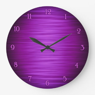 Elegant purple shaded wall clock
