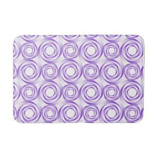 Elegant Purple Spiral Vortex Bath Mat
