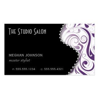 Elegant Purple Swirly Swirl Business Card Template