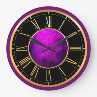 Elegant purple texture wall clock