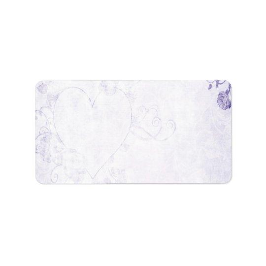Elegant Purple Vintage Wedding Label