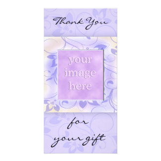 Elegant Purple Wedding Thank You Card