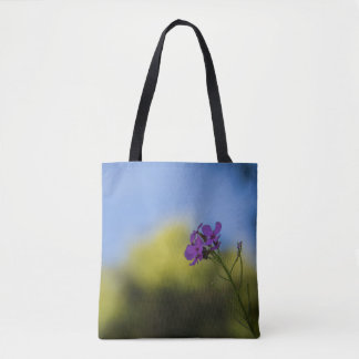 Elegant Purple Wild Flowers Tote Bag