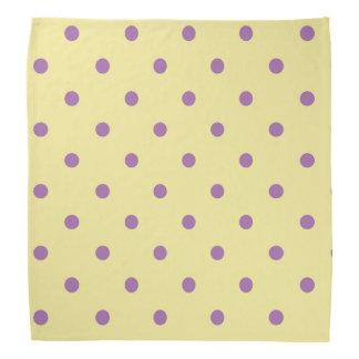 elegant purple yellow polka dots bandana