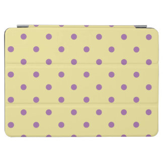 elegant purple yellow polka dots iPad air cover