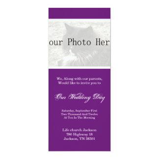 Elegant Purple Your Photo Wedding Invites