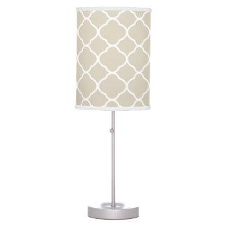 Elegant Quatrefoil Beige Table Lamp