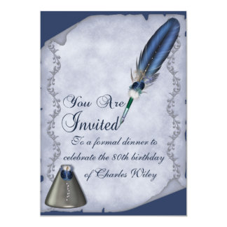 Elegant Quill and Inkwell Card