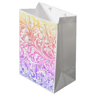 Elegant Rainbow Swirl Gift Bags for Any Occasion