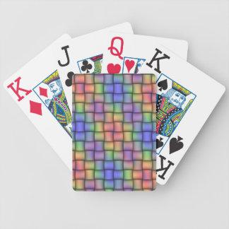 Elegant Rainbow Woven Jumbo Cards for Everyone
