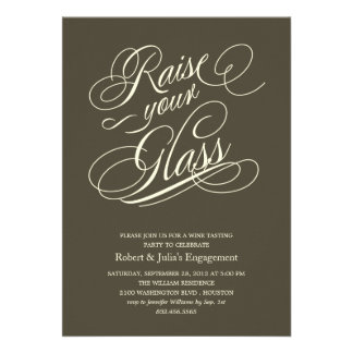 Elegant Raise Your Glass Party Invitations