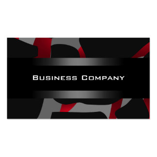Elegant Red Abstract Black Business Card Company
