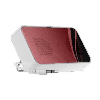 Elegant red and black abstract design speakers