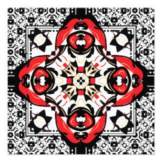 Elegant Red and Black Damask Wedding Invitations
