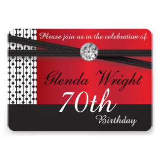 Elegant Red and Black Invite