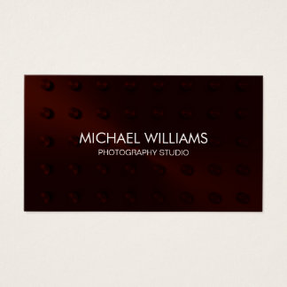 Elegant Red and Black Professional Business Card