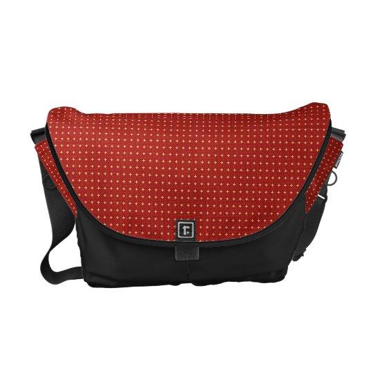 Elegant  Red Black   Messenger Bag Outside Print