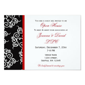 elegant Red Black White Corporate party Invitation
