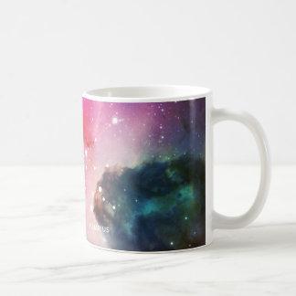 Elegant Red Blue Watercolor Nebula Aquarius Coffee Mug
