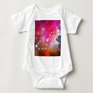 ELEGANT RED BLUE WATERCOLOR UNIVERSE - SCORPIO BABY BODYSUIT