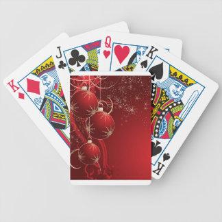 Elegant Red Christmas Poker Deck